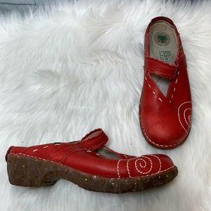 El Naturalista Tibet Red Clogs Size 40/9.5
